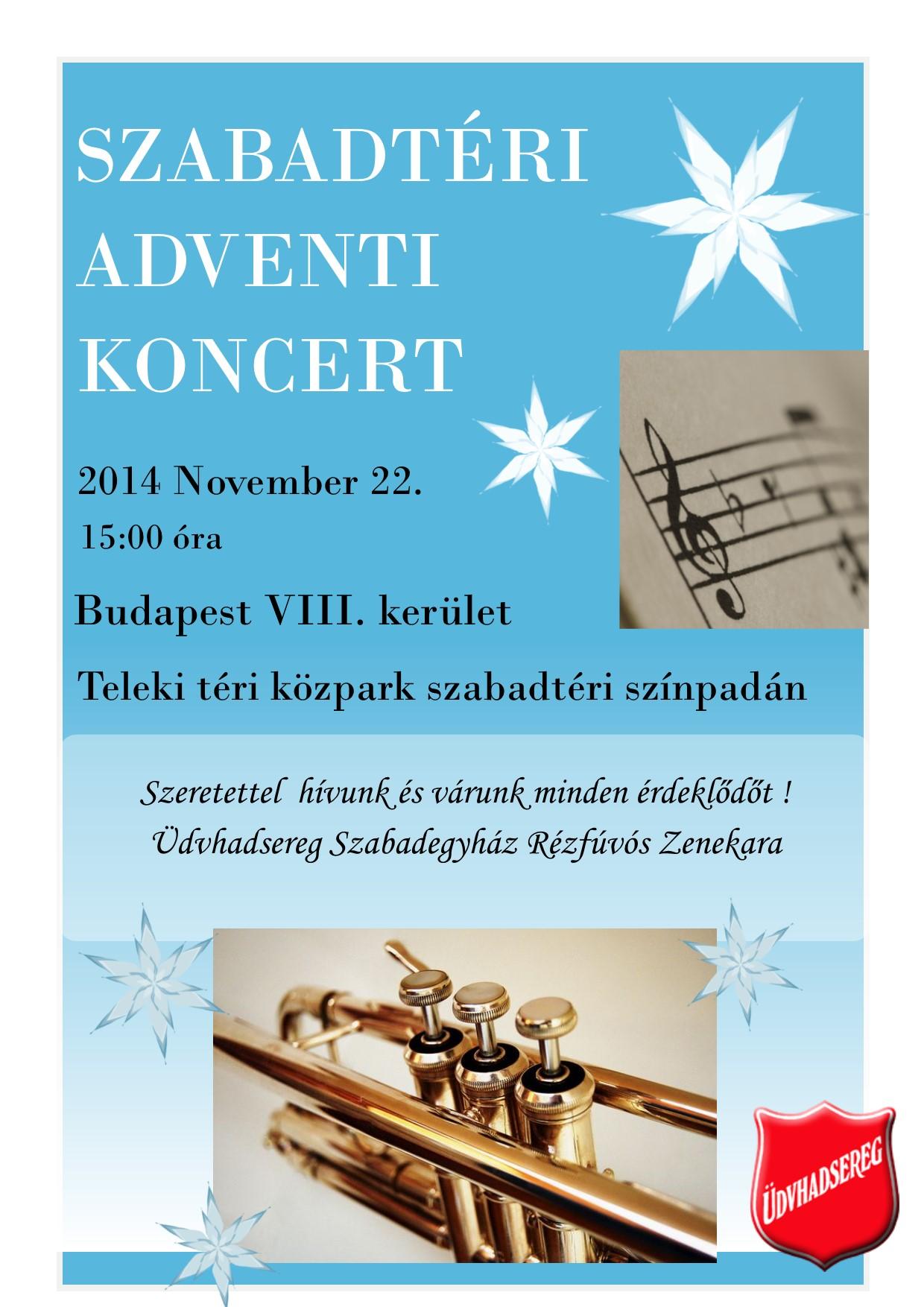 Szabadtéri Adventi koncert